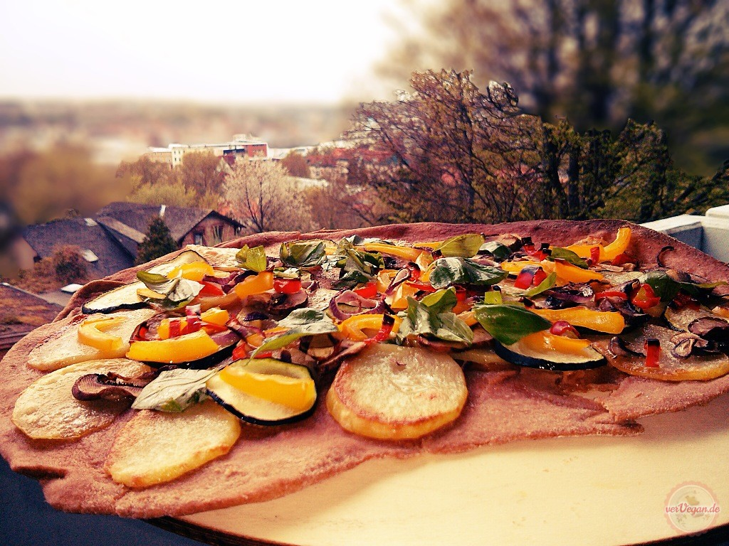 Pizza ohne Hefe